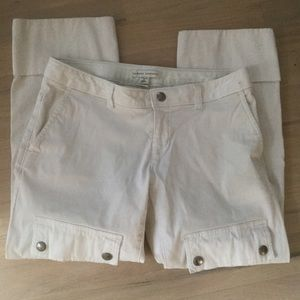 Banana Republic white stretch crop jeans Sz 4